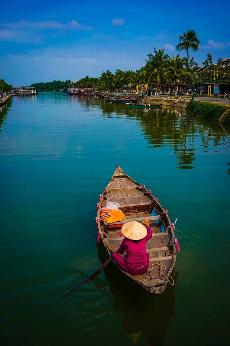 Boat on river in Huey Vietnam