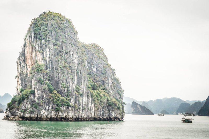 Spectacular island in Halong Bay Vietnam