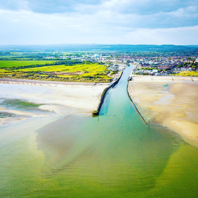 Drone photograph over the Littlehampton estuary by PG Pics
